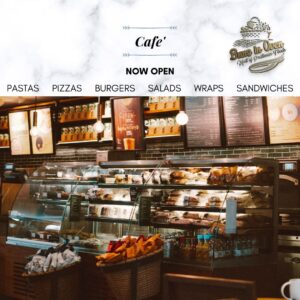 cafe by buns in oven is now open at highlanders sports academy kashipur visit us for lip smacking burgers pastas pizzas burgers salads and sandwiches